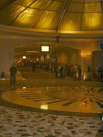 Monday, Nov. 10, 2009 8:44PM - Spectators ahead of me to witness the 2009 WSOP Final 2