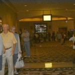 WSOP spectators in line behind me at 10:30am