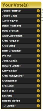 WSOP Tournament of Champions Voting