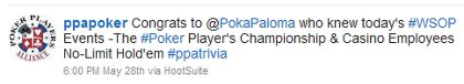 Poker Players Alliance Announcing the Win!