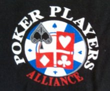 Poker Players Alliance Logo on Front of T-Shirt