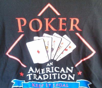 Poker Players Alliance back of T-shirt
