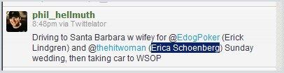 Erick Lindgren Erica Schoenberg Marry