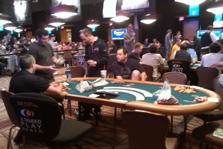 Matt Glantz, Phil Galfond, Barry Greenstein, David Baker Poker Players Championship Day 4
