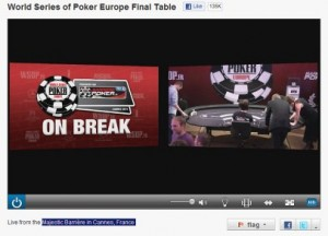 WSOP Europe Streaming Live
