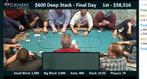 Seat 3 messy stacks 1:15pm Sunday