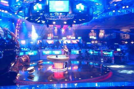 The Big One poker tournament set