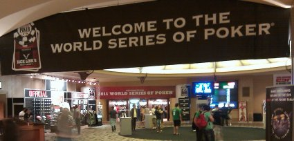 WSOP Welcome Sign