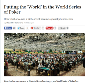I'm Joining the World of the WSOP