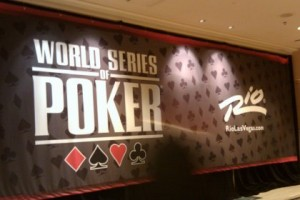 2012 WSOP sign at the RIO All Suites Hotel