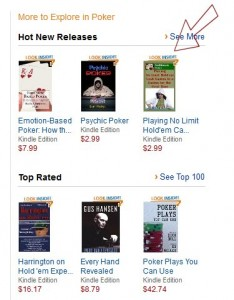 Amazon Love for Playing no limit holdem cash games at a casino for the first time